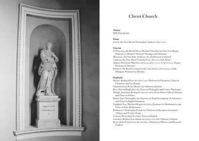 Image of spread from Christ Church, Oxford – annual report