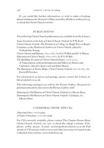 Image of page from Christ Church, Oxford – annual report