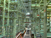 Photograph of Labyrinthine modern library.