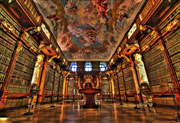 Photograph of Melk Abbey library, near vienna.