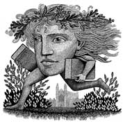 Image of The Running Head greetings card 2004 by Harry Brockway